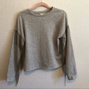 H&M Long Sleeved Sweatshirt with Metal Fringe